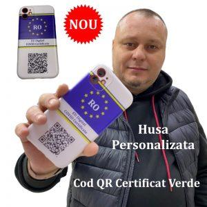 Husa Personalizata Cod QR Certificat Verde